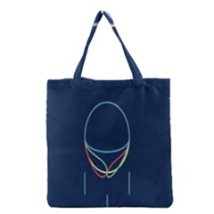 Line Light Blue Green Red Yellow Grocery Tote Bag