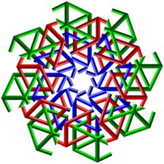 Impossible Cubes Red Green Blue Folding Umbrellas