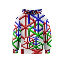 Impossible Cubes Red Green Blue Kids  Zipper Hoodie