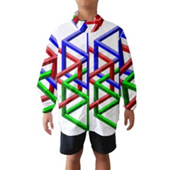 Impossible Cubes Red Green Blue Wind Breaker (Kids)