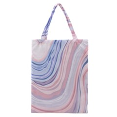 Marble Abstract Texture With Soft Pastels Colors Blue Pink Grey Classic Tote Bag