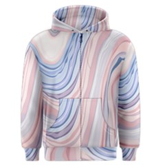 Marble Abstract Texture With Soft Pastels Colors Blue Pink Grey Men s Zipper Hoodie