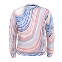 Marble Abstract Texture With Soft Pastels Colors Blue Pink Grey Men s Sweatshirt