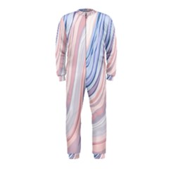 Marble Abstract Texture With Soft Pastels Colors Blue Pink Grey OnePiece Jumpsuit (Kids)