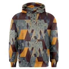 Apophysis Isometric Tessellation Orange Cube Fractal Triangle Men s Pullover Hoodie
