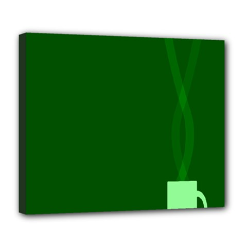 Mug Green Hot Tea Coffe Deluxe Canvas 24  x 20