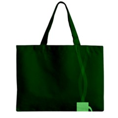 Mug Green Hot Tea Coffe Zipper Mini Tote Bag