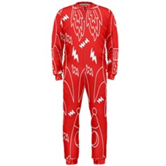 Moon Red Rocket Space OnePiece Jumpsuit (Men)