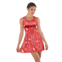 Moon Red Rocket Space Cotton Racerback Dress