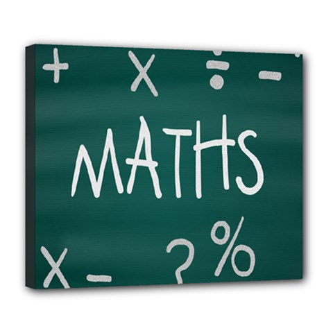 Maths School Multiplication Additional Shares Deluxe Canvas 24  x 20