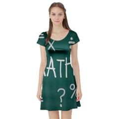 Maths School Multiplication Additional Shares Short Sleeve Skater Dress