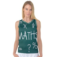 Maths School Multiplication Additional Shares Women s Basketball Tank Top