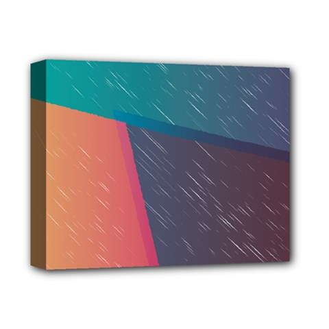 Modern Minimalist Abstract Colorful Vintage Adobe Illustrator Blue Red Orange Pink Purple Rainbow Deluxe Canvas 14  x 11