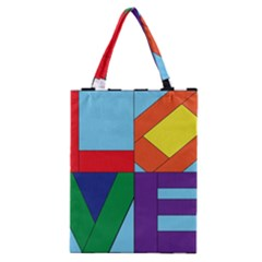 Rainbow Love Classic Tote Bag