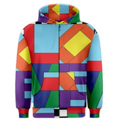 Rainbow Love Men s Zipper Hoodie