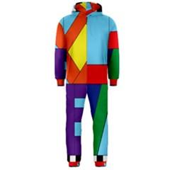 Rainbow Love Hooded Jumpsuit (Men)