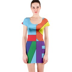 Rainbow Love Short Sleeve Bodycon Dress