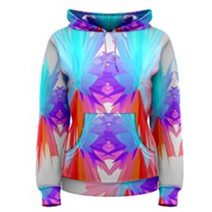 Poly Symmetry Spot Paint Rainbow Women s Pullover Hoodie