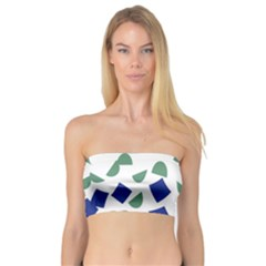 Scatter Geometric Brush Blue Gray Bandeau Top