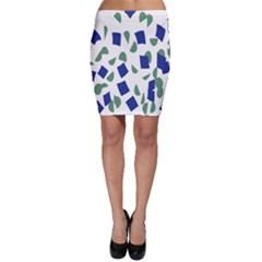 Scatter Geometric Brush Blue Gray Bodycon Skirt