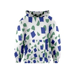 Scatter Geometric Brush Blue Gray Kids  Pullover Hoodie