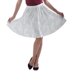 Colors A-line Skater Skirt