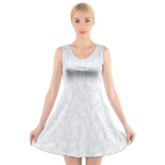 Colors V-Neck Sleeveless Skater Dress