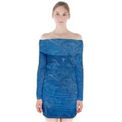 Colors Long Sleeve Off Shoulder Dress