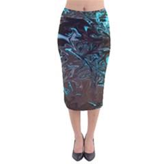 Colors Velvet Midi Pencil Skirt