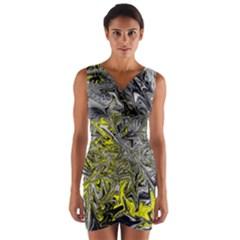 Colors Wrap Front Bodycon Dress