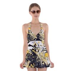 Colors Halter Swimsuit Dress