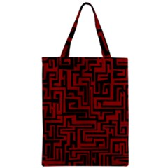 Pattern Zipper Classic Tote Bag