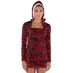 Pattern Women s Long Sleeve Hooded T-shirt