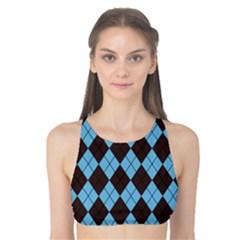 Pattern Tank Bikini Top