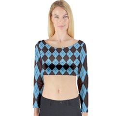 Plaid pattern Long Sleeve Crop Top