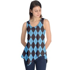 Plaid pattern Sleeveless Tunic
