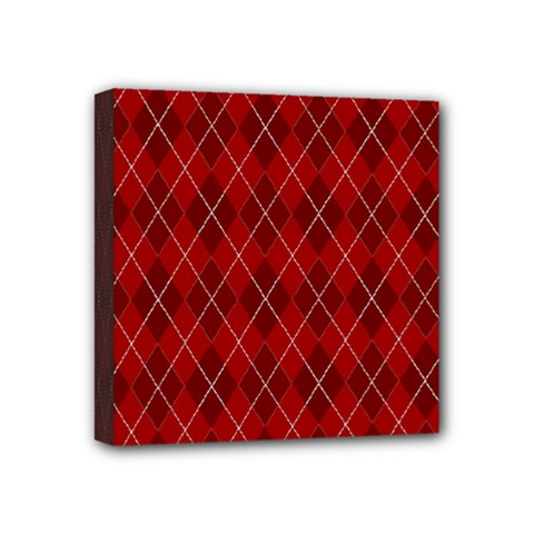 Plaid pattern Mini Canvas 4  x 4