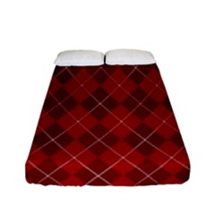 Plaid pattern Fitted Sheet (Full/ Double Size)