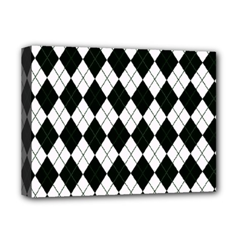 Plaid pattern Deluxe Canvas 16  x 12