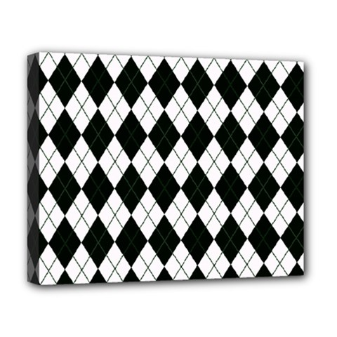 Plaid pattern Deluxe Canvas 20  x 16