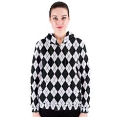 Plaid pattern Women s Zipper Hoodie