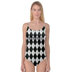 Plaid pattern Camisole Leotard