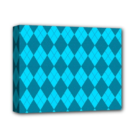 Plaid pattern Deluxe Canvas 14  x 11