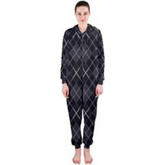 Plaid pattern Hooded Jumpsuit (Ladies)