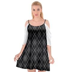 Plaid Pattern Cutout Spaghetti Strap Chiffon Dress