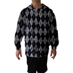 Plaid pattern Hooded Wind Breaker (Kids)