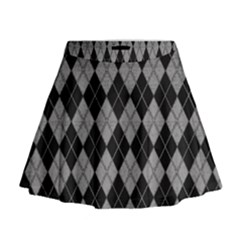 Plaid pattern Mini Flare Skirt
