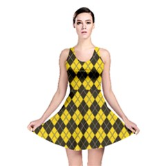 Plaid pattern Reversible Skater Dress
