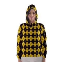 Plaid pattern Hooded Wind Breaker (Women)