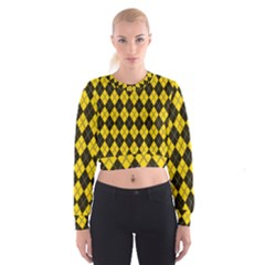 Plaid pattern Cropped Sweatshirt